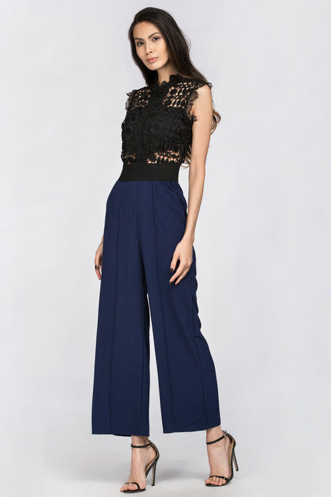 Blue Lace Embroidered Top Jumpsuit 189