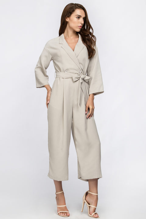 Cream Modern Women Jumpsuit 117