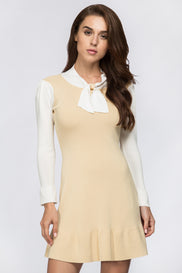 Cream School Girl Mini Dress