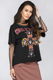 Guns & Roses Vintage T-Shirt with mesh