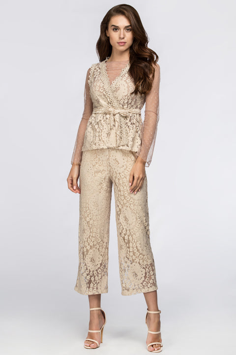 Nude Lace Eyelet Co-ord 194