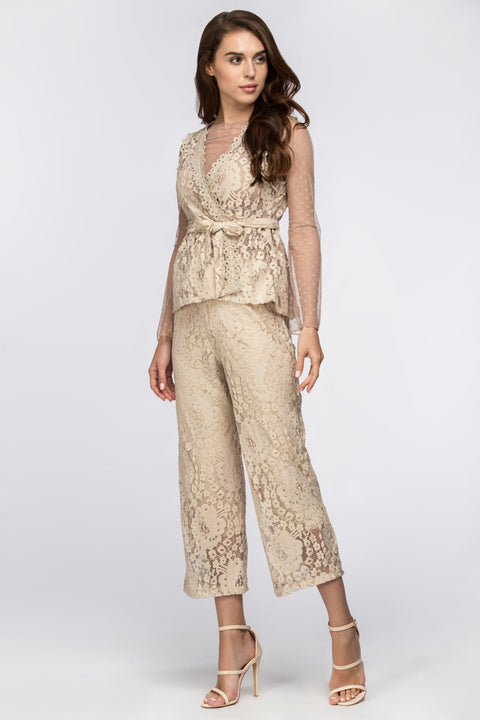 Nude Lace Eyelet Co-ord 195