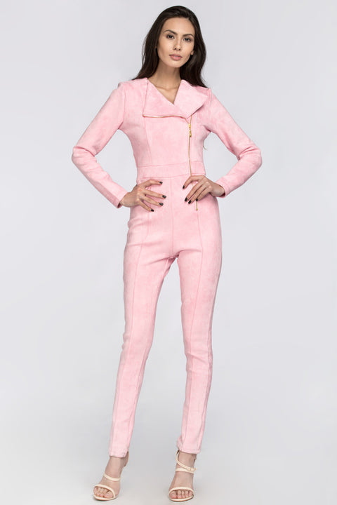 Pink Side Zip Jumpsuit 166