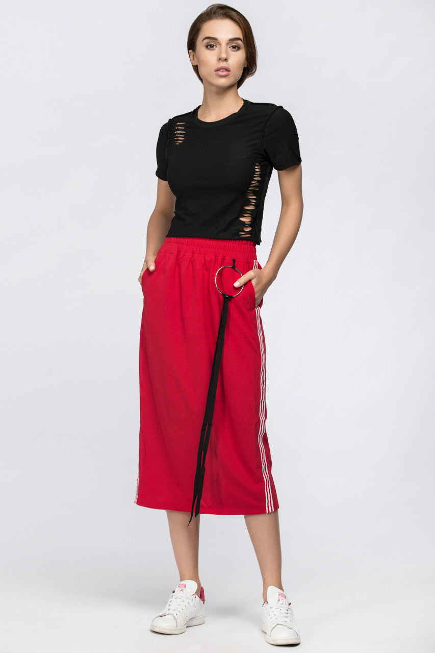 Red Sweat Skirt