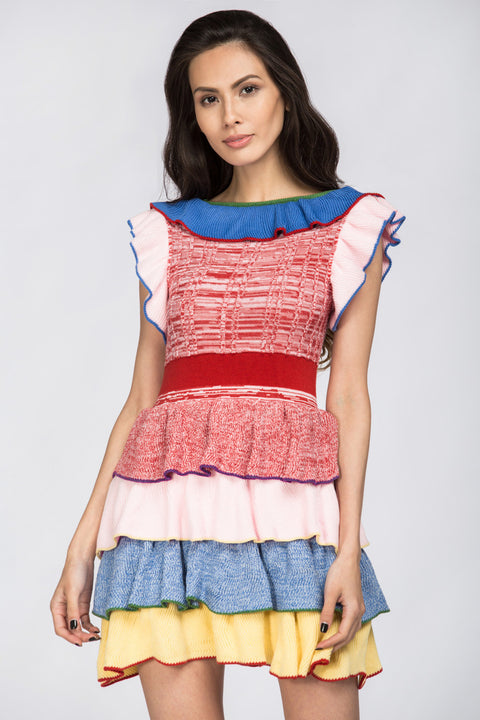 Ruffled Lollipop Knit Top 186