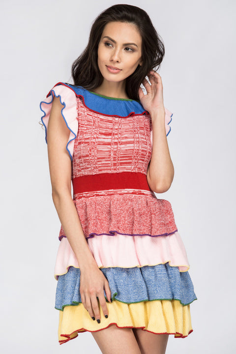 Ruffled Lollipop Knit Top 80