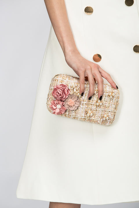 Spring Flowers Tweed Clutch 102