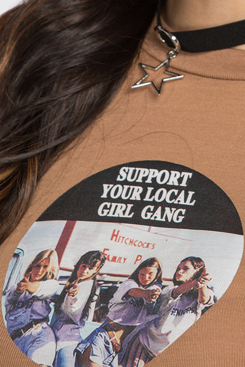 Support Your Local Girl Gang Vintage T-Shirt 11