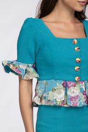 Tiffany Spring Peplum Midi Dress
