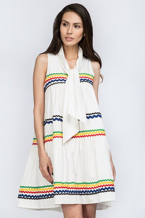 White Tent Haltered Summer Dress 41