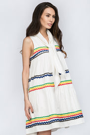 White Tent Haltered Summer Dress