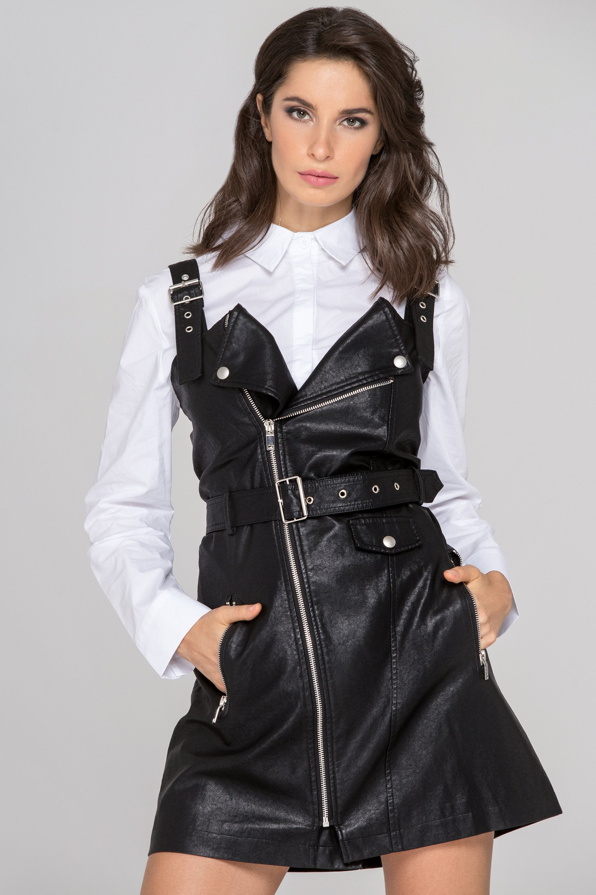 beff21f082a Own The Look - Black Faux Leather Biker Dress Set - OwnTheLooks 2.jpg v 1527264659