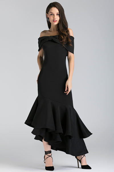 Own the look   black magnolia off the shoulder mermaid maxi dress   ownthelooks 1 grande