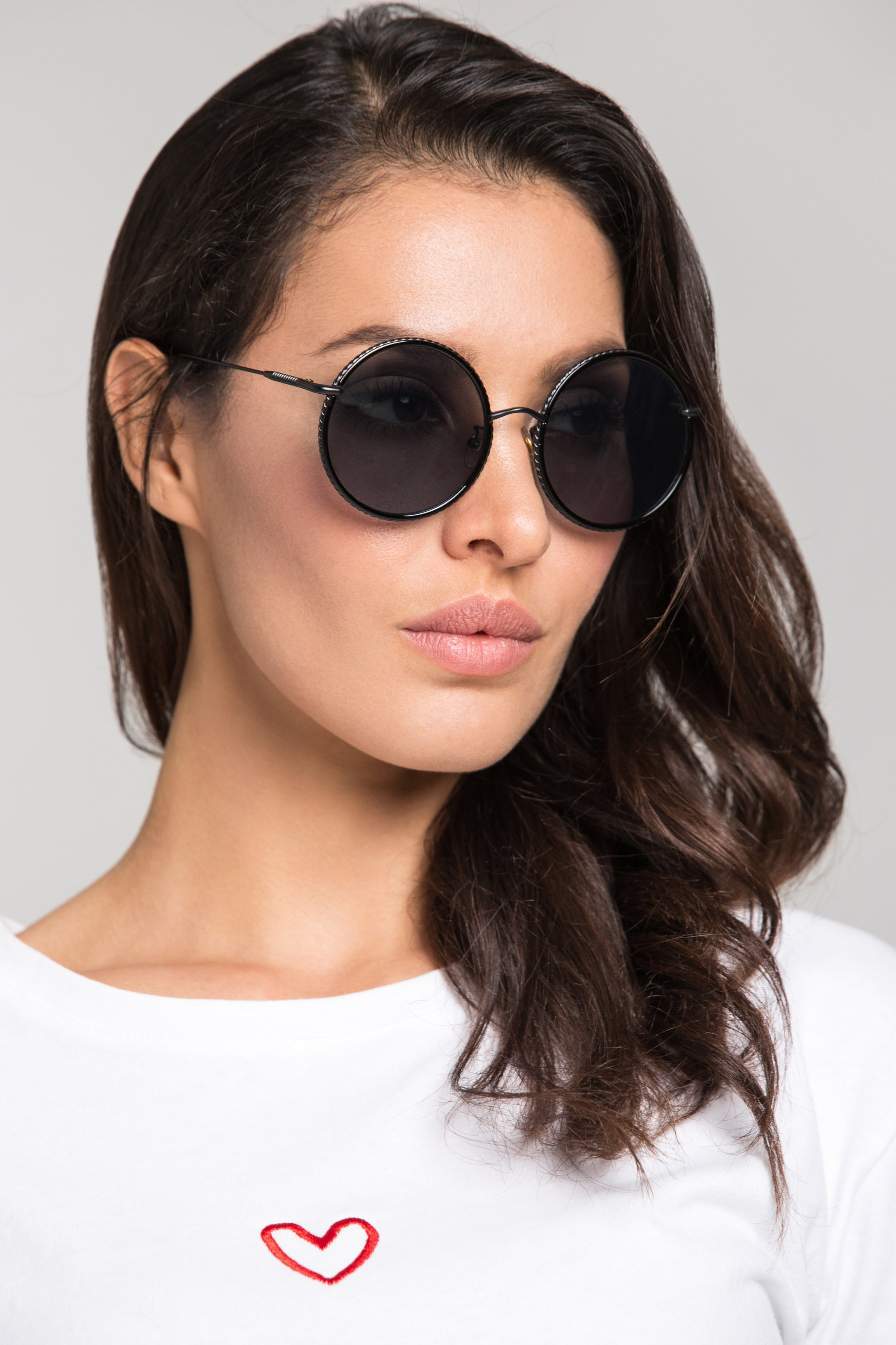 b67a221af7732 Black Rope Top Rim Round Sunglasses – OwnTheLooks