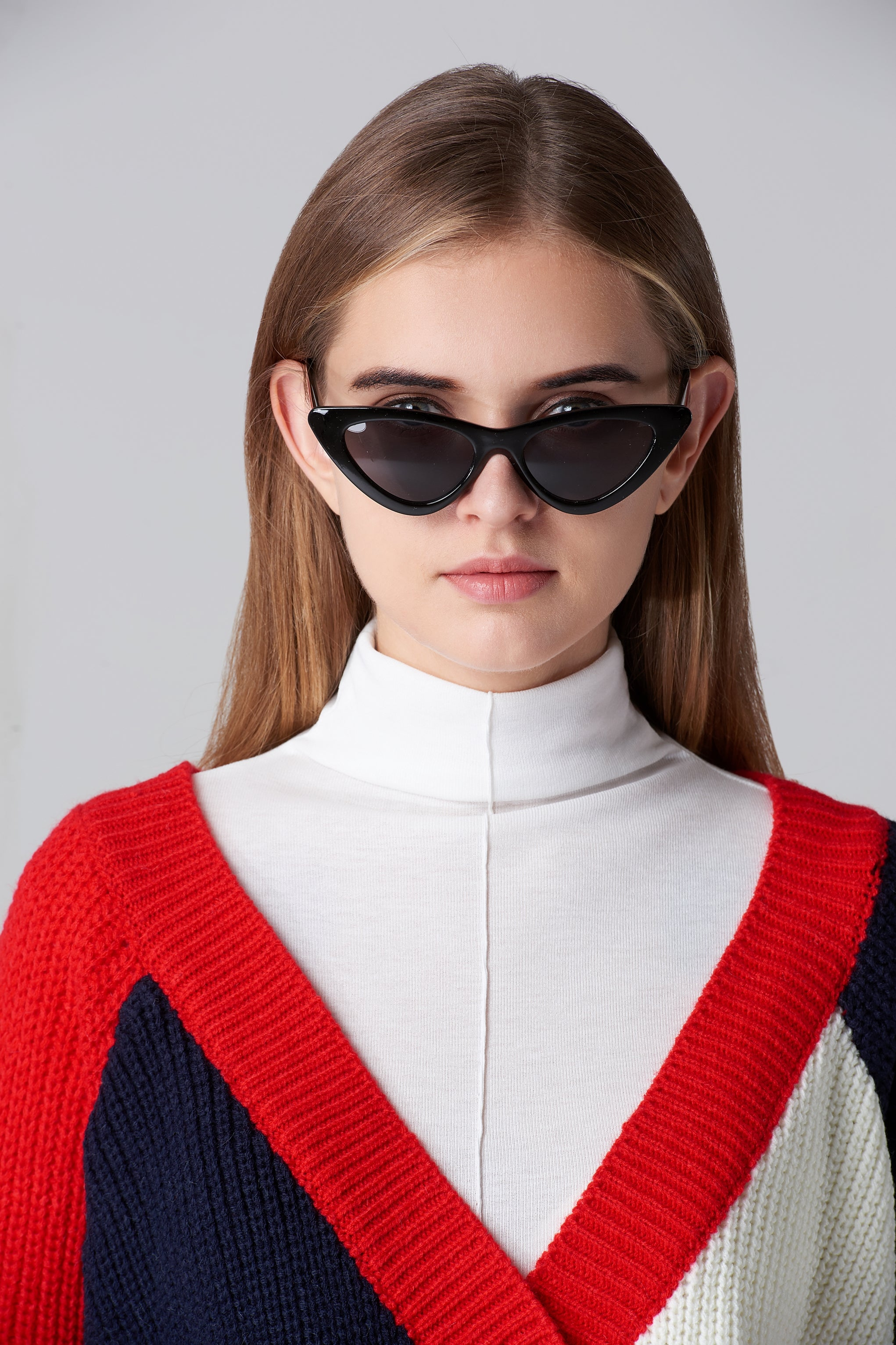 20946e0b70c9 people are viewing this item right now. Black Vintage Slim Pointy Cat Eye  Sunglasses