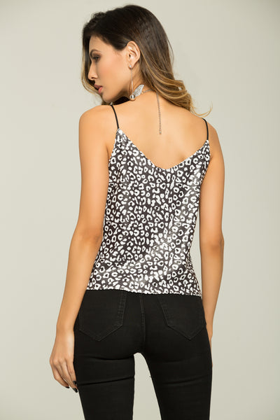 ec4ee6d1ad0b8 Black and White Cheetah Print Singlet Top – OwnTheLooks