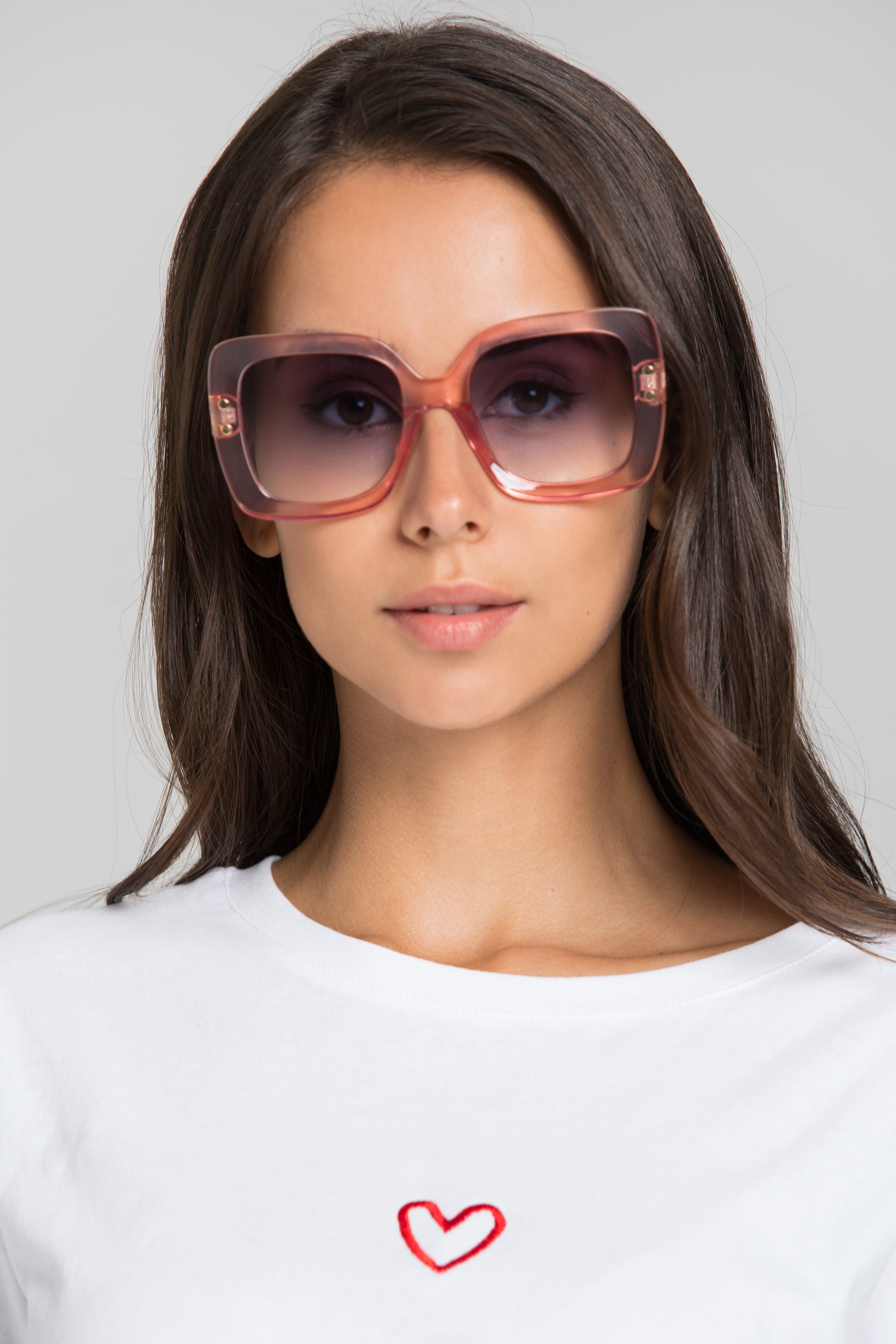 46cea769b33 Pink Transparent Square Giselle Sunglasses – OwnTheLooks