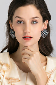 Square Houndstooth Earrings