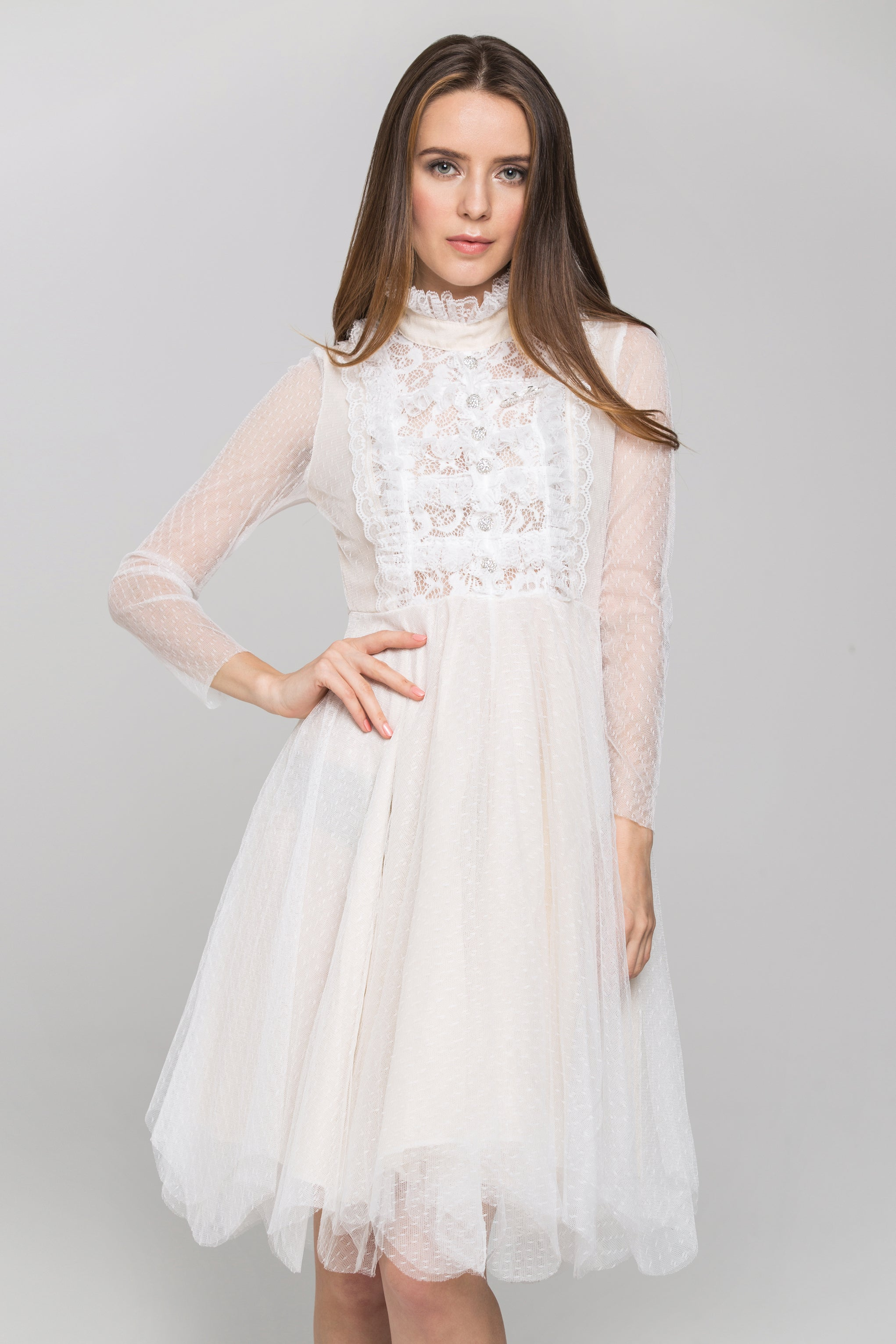 78f7f98ce038b0 New Look Lace Scallop Top And Midi Skirt Co Ord