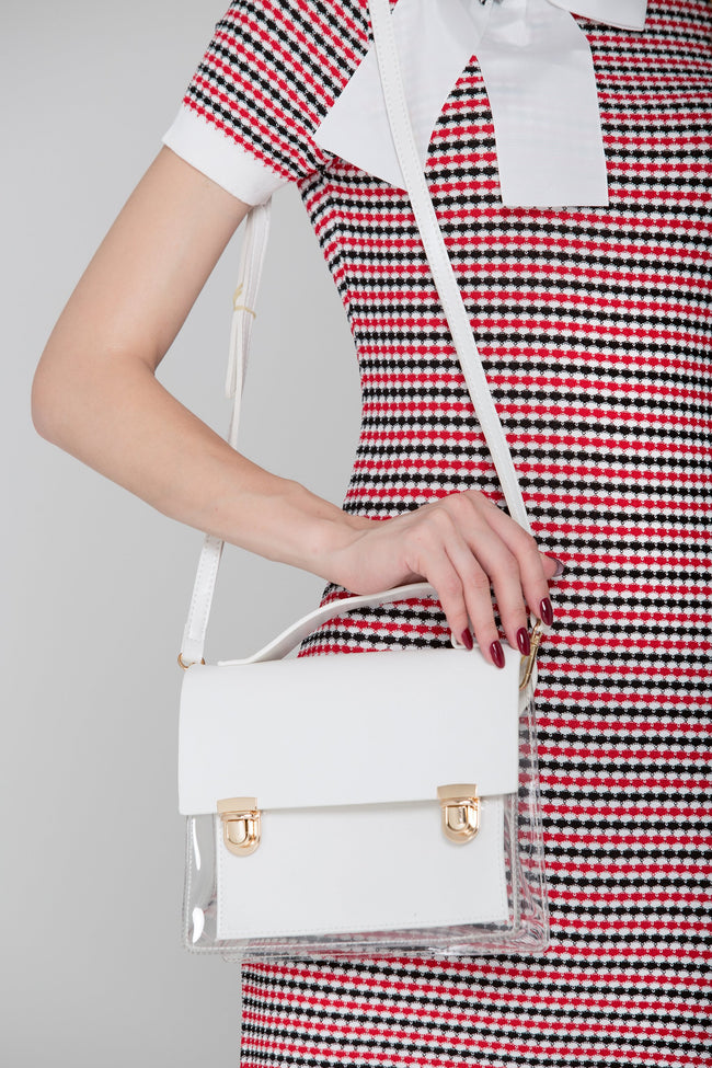 White Transparent Satchel