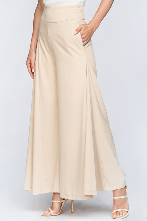 Nude Palazzo Trousers 209