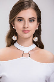 Fatima Almomen - Pearl Drop Earrings