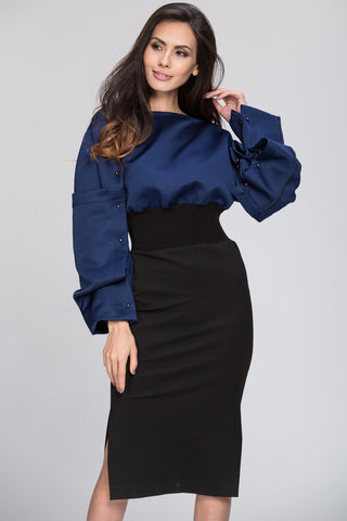 The Real Fouz - Puff Sleeve Color Block Dress 18