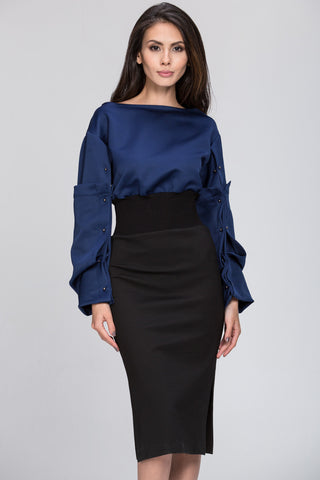 The Real Fouz - Puff Sleeve Color Block Dress 15