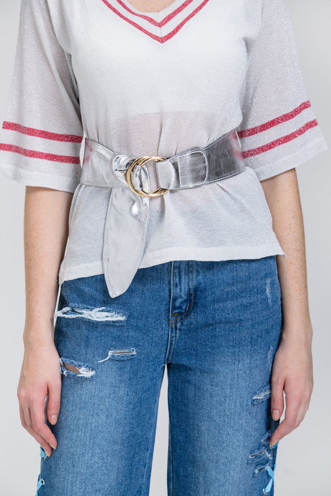 Silver Bow Ring Belt
