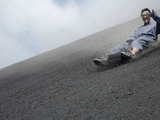 Surfing down an active volcano in Nicaragua
