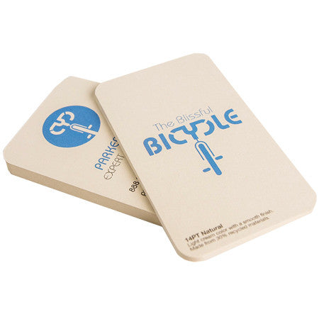 Business Cards 14PT Uncoated with Natural Cream Color