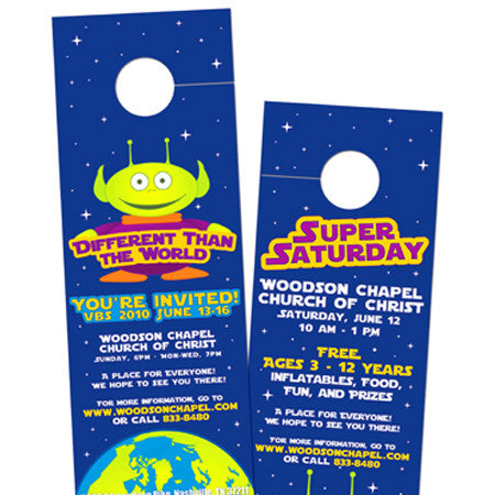 Door Hangers 16PT UV Coated Glossy