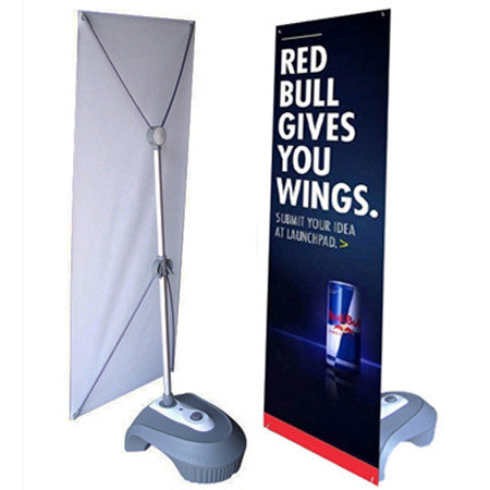 Outdoor X-Banner Stand with Water Base