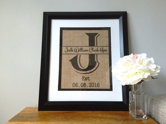 Child's Name & Date of Birth Custom Print-One Seven Studio & Design