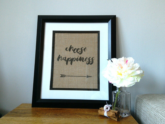 Choose Happiness Burlap Print-One Seven Studio & Design