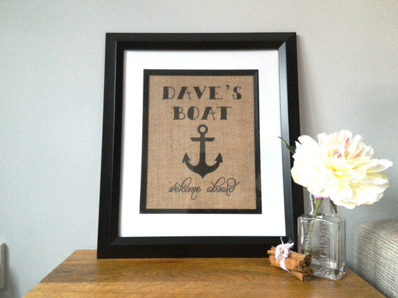 Dave's Boat Personalised Print *Personalise Me!* - One Seven Studio & Design