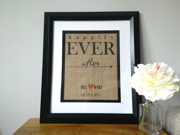 Happily Ever After Custom Print-One Seven Studio & Design