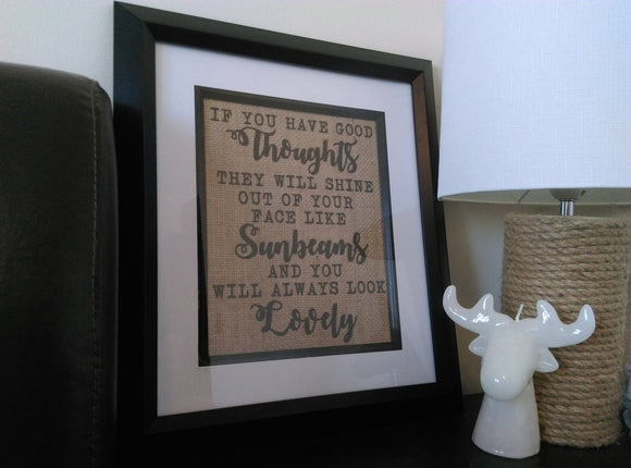 Happy Thoughts Burlap Print-One Seven Studio & Design