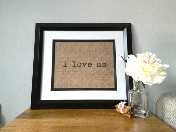 I Love Us Print. Personalise Me!-One Seven Studio & Design