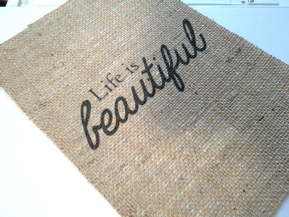 Life Is Beautiful Print. - One Seven Studio & Design