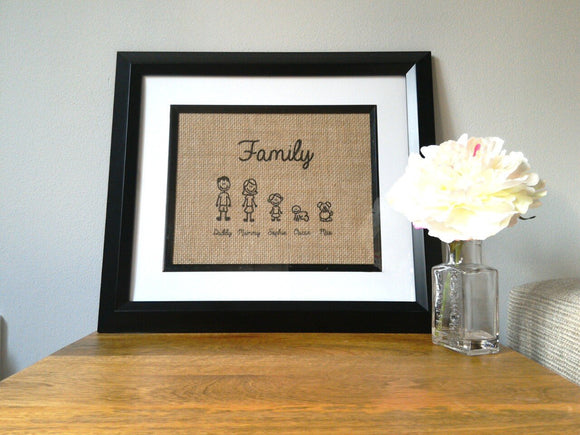 Stick Man Family Print-One Seven Studio & Design