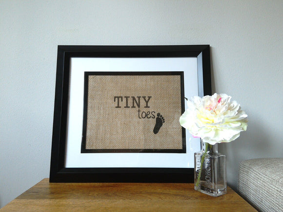 Tiny Toes Children's Print. Personalise Me! - One Seven Studio & Design