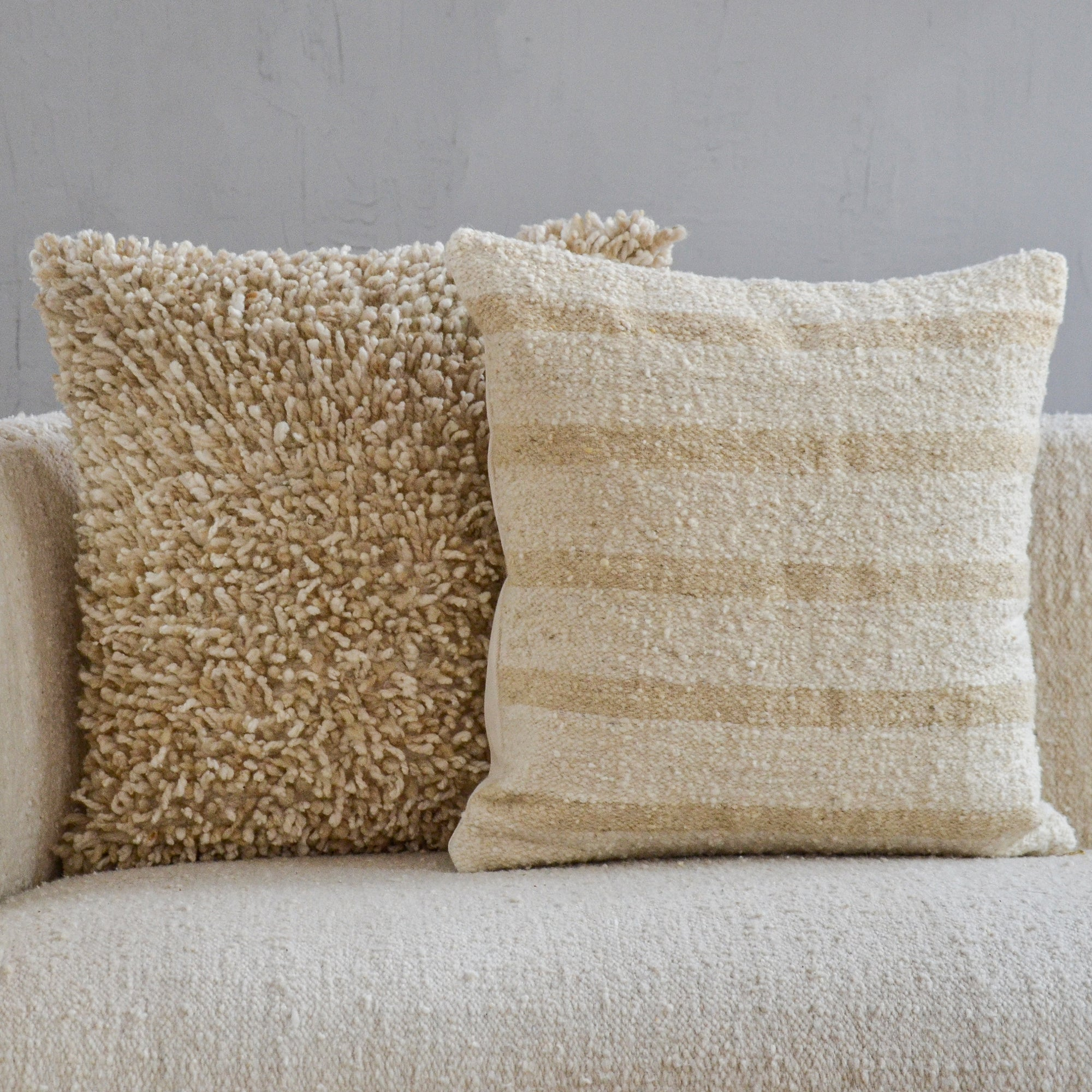 Linear Wool Pillow Covers