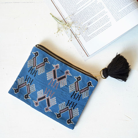Birds Beaded Pouch