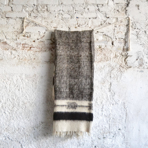 Black Arrows Napped Wool Throw