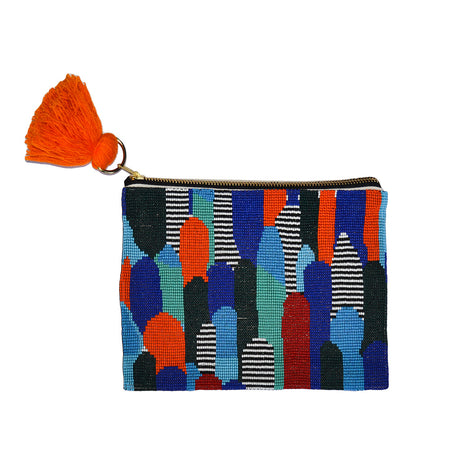 Color Mountains Beaded Pouch