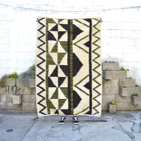 Huipil Black Wool Rug