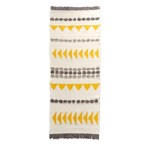 Yellow Arrows Wool Rug