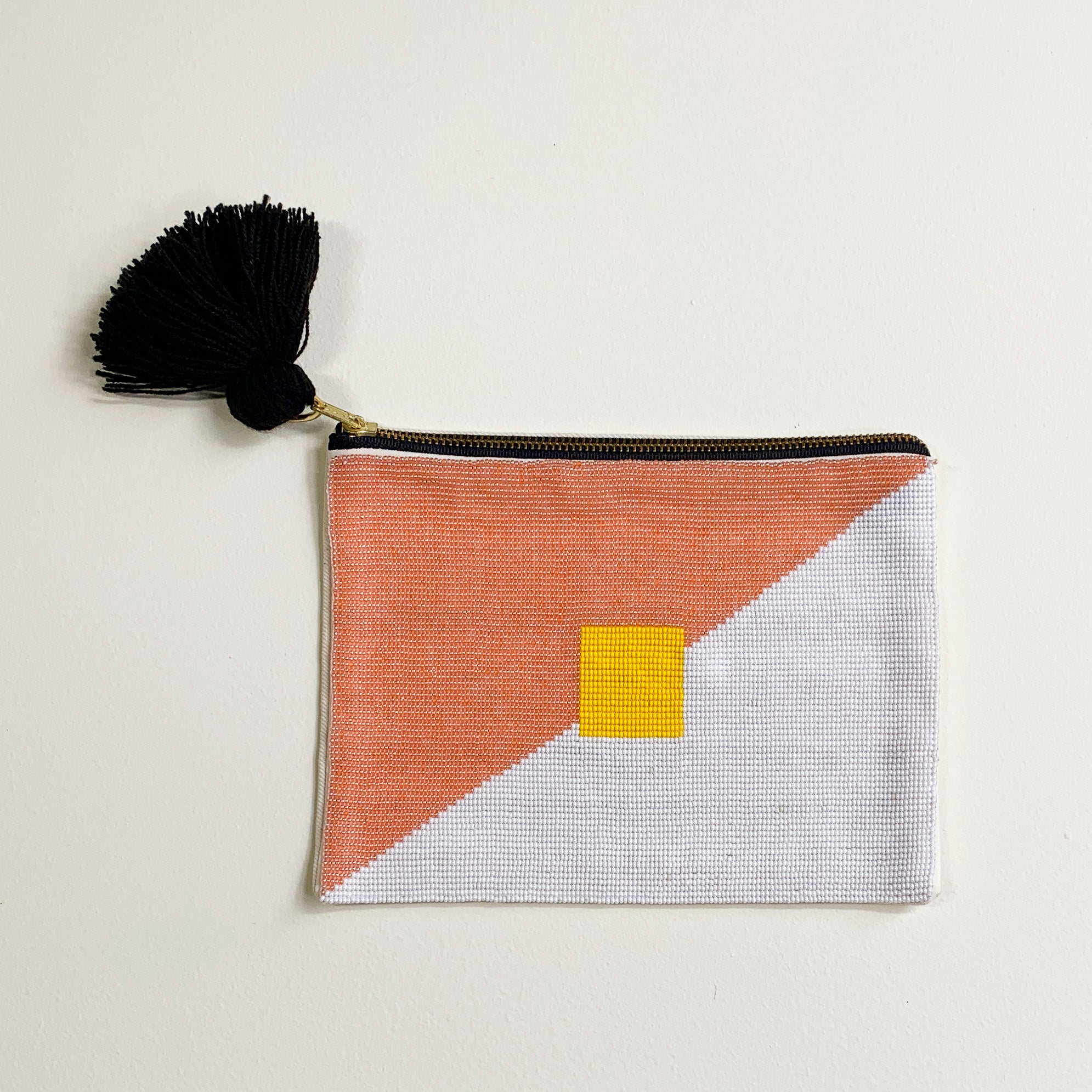 Pink Lake Beaded Pouch