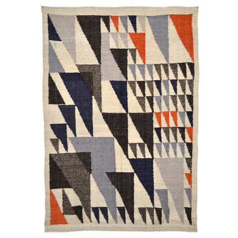 Cotzal Orange & Blue Wool Rug